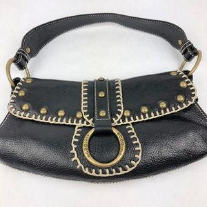 BCBGirls Handbag Purse Black Leather shoulder bag